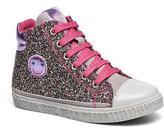 Agatha Ruiz De La Prada Kids's Mini Lollipop 3 Hi-top Trainers in Pink