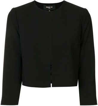 Paule Ka Collarless Cropped Jacket