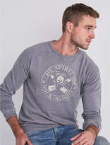 Lucky Brand Fender Skull Burnout Sweatshirt
