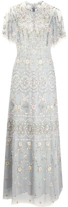 Needle & Thread Floral Embroidered Tulle Gown