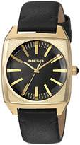 Diesel Women's 'Becky' Quartz Stainless Steel and Leather Casual Watch, Color:Black (Model: DZ5557)