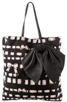 RED Valentino Bow-Embellished Printed Tote