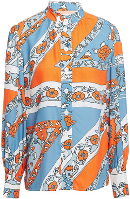Antik Batik Floral-jacquard Shirt