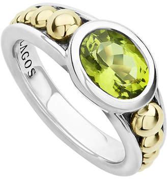 Lagos Treasure Chest 18K & Silver Peridot Ring