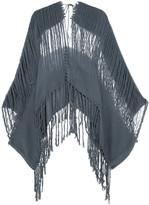 Caravana - Hunab Ku Frayed Cotton-gauze Coverup - Charcoal