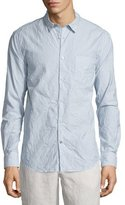 John Varvatos Striped Wrinkled Sport Shirt, Camel