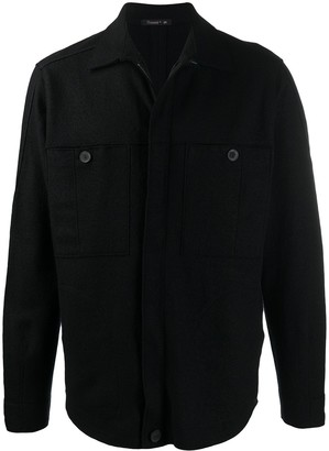 Transit Knitted Double Pocket Shirt Jacket