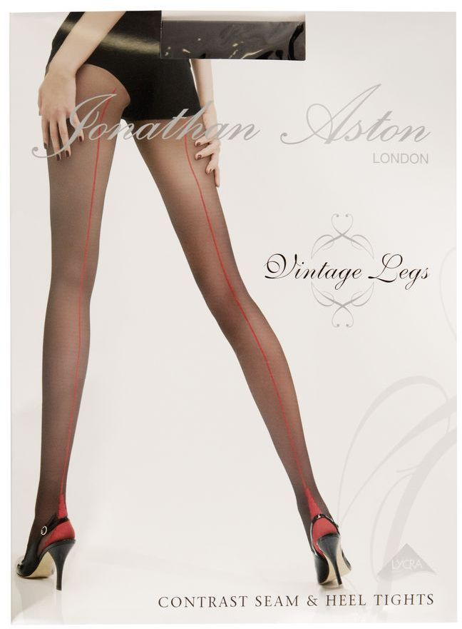 Jonathan Aston 15 denier Vintage contrast seam and heel tight