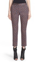 Burberry Women's Print Cotton Crop Trousers