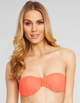 South Beach Charley Matte Finish Moulded Ruched Bandeau