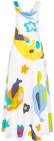 Mira Mikati Monster print apron dress
