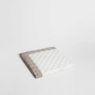 Burberry Diamond Quilted Vintage Check Cotton Baby Blanket