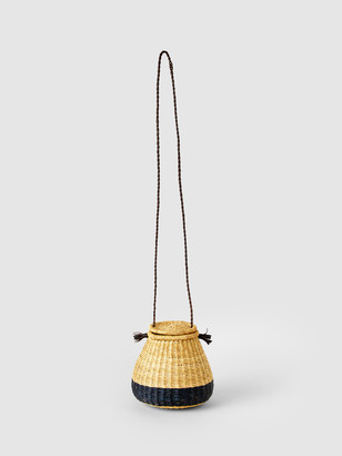 Keys and Coins Straw Basket