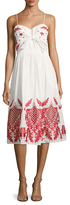 Red Carter Sage Embroidered Dress