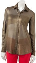 Rock & Republic foil chiffon blouse