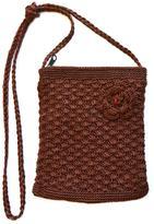 Private Label Brown Knit Purse