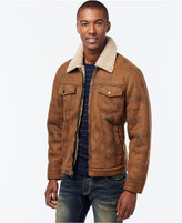 INC International Concepts Zip-Front Jacket with Faux Shearling Collar, Only at Macy's