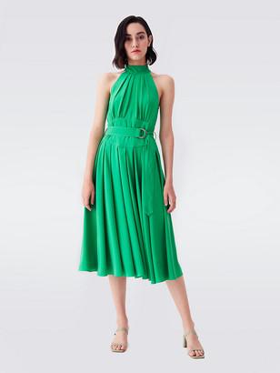 Diane von Furstenberg Nicola Georgette-Blend Midi Dress