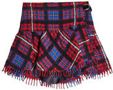 Tommy Hilfiger Plaid Skirt with Wool and Alpaca