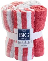 The Big One® 6-pack Rugby Stripes Washcloth