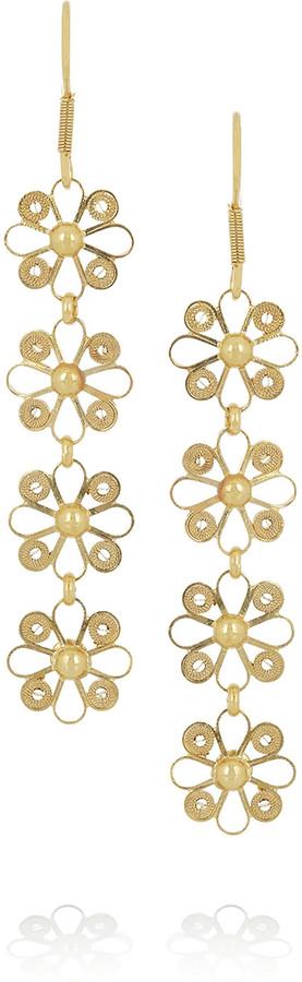 Mallarino Almudena 24-karat gold-vermeil filigree earrings