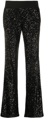 Balmain Sequin-Embellished Flared Trousers