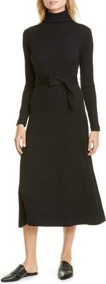 Club Monaco Melissah Knit Long Sleeve Midi Dress
