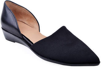 Bettye Muller Concept Cage Pointed-Toe Demi-Wedge Flats