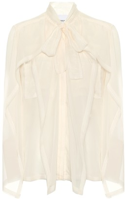 Burberry Tie-neck silk blouse