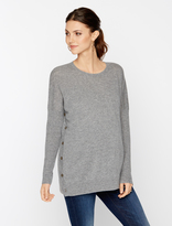A Pea in the Pod Autumn Cashmere Button Detail Maternity Sweater