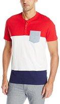 U.S. Polo Assn. Men's Wide Stripe Pocket Henley T-Shirt