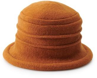 Scala Women's Knit Wool Packable Cloche Hat