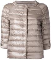 Herno three-quarters sleeve puffer jacket - women - Cotton/Polyamide/Acetate/Feather - 44