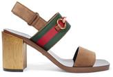 Gucci Horsebit-detailed Suede Sandals - Brown