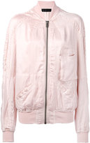 Haider Ackermann patch pocket bomber jacket