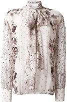See by Chloe floral & dot print shirt