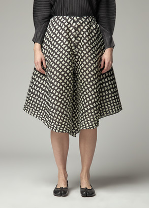 Pleats Please Issey Miyake Women's Printed Wide Bottoms Pants in Black Size 3