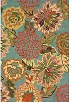 nuLoom 200MJSM11A-5076 Handmade Bold Floral Wool Rug (5-Feet X 7-Feet 6)