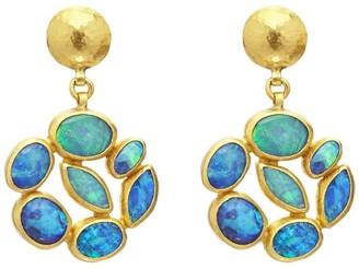 Gurhan 24kt gold Cluster drop earrings