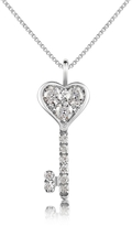 Forzieri 0.41 ct Diamond Key Pendant Necklace