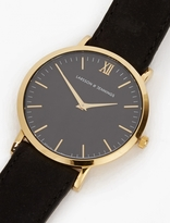 Larsson & Jennings Black and Gold Lugano 40mm Watch