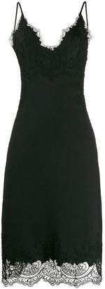 Ermanno Scervino sleeveless lace-embellished slip dress