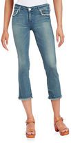 True Religion Frayed Cropped Jeans