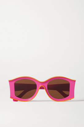Loewe Paula's Ibiza Round-frame Acetate Sunglasses - Pink