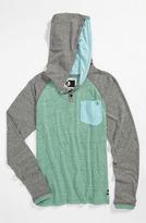 Volcom 'Tempest' Hooded Henley T-Shirt (Big Boys)