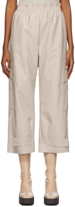 Stella McCartney Off-White Faux-Leather Sylvia Trousers