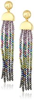 "Diane von Furstenberg Rainbow Rocks"" Faceted Bead Tassel Drop Earring"