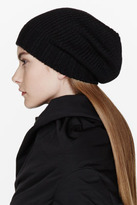 Rick Owens Black Knit Medium Beanie