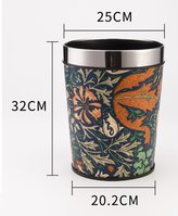 JTXQBH Euopean fashion dustbin without cove/Household living oom tash can/ hotel bathoom tash can/ kitchen gabage