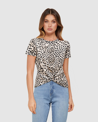 Forever New Whitney Twist Front Crop Tee